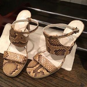 Tod's Python Platform Sandals US 9